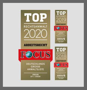 Top Anwälte 2018, 2019 und 2020